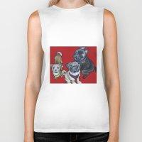nemo Biker Tanks featuring Phoebe Nemo & Stark by Pawblo Picasso