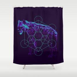 Sacred Hyena color Shower Curtain