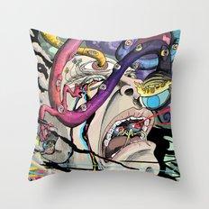 Total Freak Out Throw Pillow