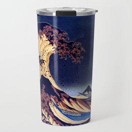 The Great Wave Off Kanagawa Inverted Katsushika Hokusai Travel Mug