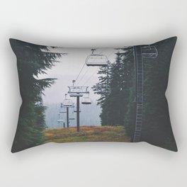 Ski Lift Rectangular Pillow