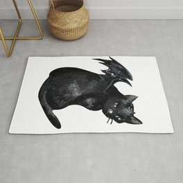 the black cat Rug