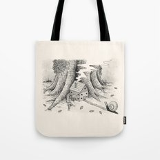 'A Visitor' (Grey) Tote Bag