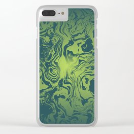 oil spill Clear iPhone Case