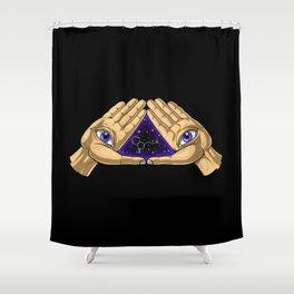 DMT Molecule Trip Shower Curtain