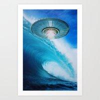 ufo Art Prints featuring UFO by John Turck