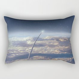 Space exploration earth and night sky Rectangular Pillow