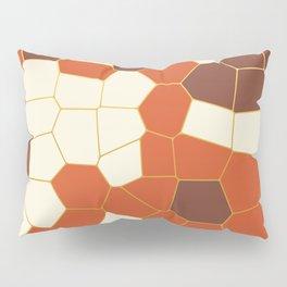 Hexagon Abstract Orange_Cream Pillow Sham