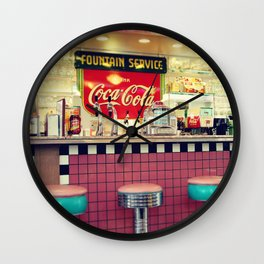 retro diner Wall Clock