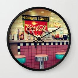 retro diner Wall Clock