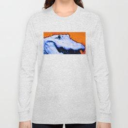 Gator Art - Swampy - Florida - Sharon Cummings Long Sleeve T-shirt