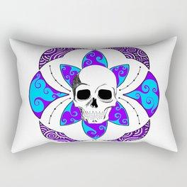 Flower of Life Purple Panic Rectangular Pillow