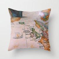 sail Throw Pillows featuring sail. by Hannah M.