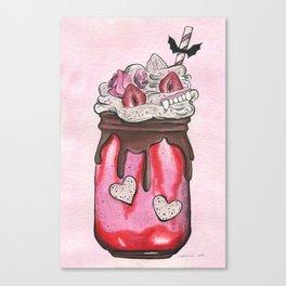 Blood, Guts, & Strawberry Milk Canvas Print