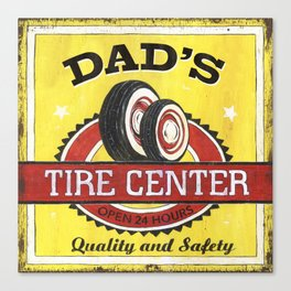 Dad's Tire Center Canvas Print