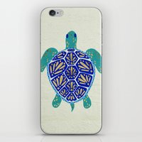 sea iPhone & iPod Skins featuring Sea Turtle by Cat Coquillette