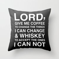 lord of the ring Throw Pillows featuring Lord by Old & Brave