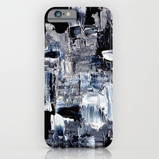 50 Shades... - black & white abstract painting iPhone & iPod Case