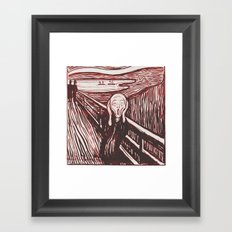 The Scream's Haze (red) Framed Art Print