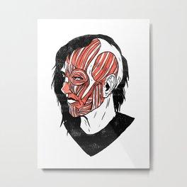 Musclehead Metal Print