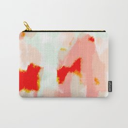 Veronica - Red & blush abstract art Carry-All Pouch