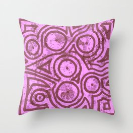 Pink Round Square Throw Pillow