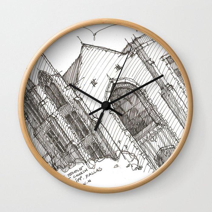 Oa[k]cliff Temple Wall Clock