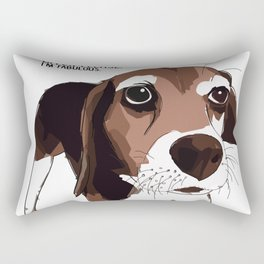 Bitch Please.  I'm Fabulous.  Beagle Rectangular Pillow