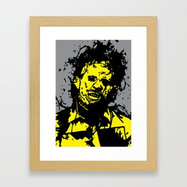 August 18, 1973: Bloodstain Leatherface (color combination E) Framed Art Print
