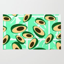 Avocado pattern Rug