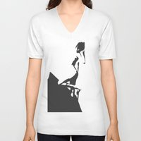 popart V-neck T-shirts featuring PopArt Halftone by C R Clifton Art