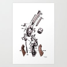 Exploded Gun Art Print