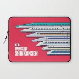 Shinkansen Bullet Train Evolution - Red Laptop Sleeve