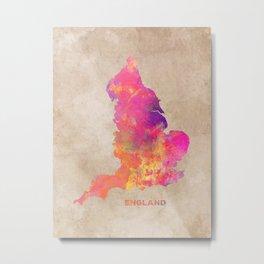 England map #england #map #englandmap Metal Print