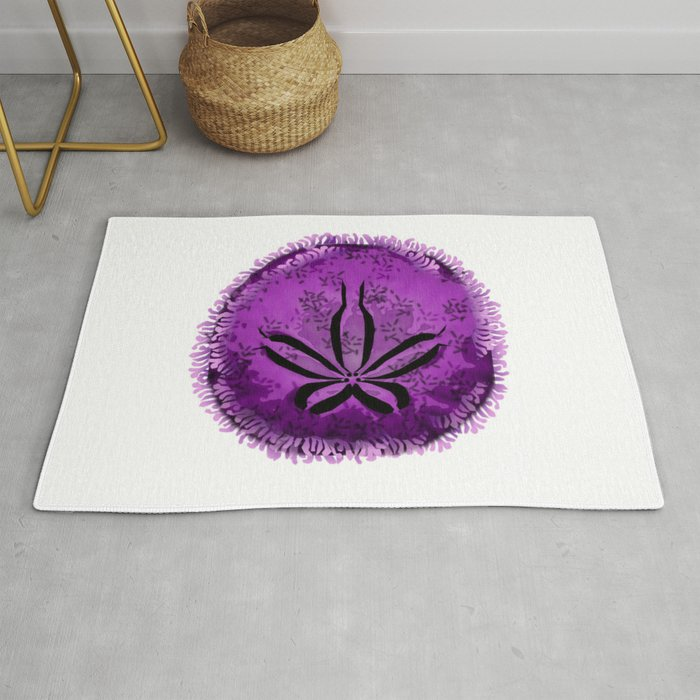 Live Purple Sand Dollar Rug By
