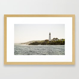 Lighthouse in Portland, Maine. Framed Art Print