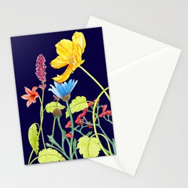 Floral Border - Golden Sunshine Stationery Cards