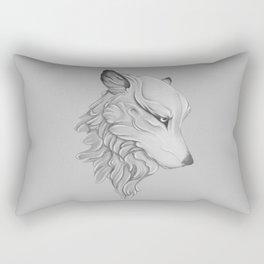 Wolf gaze Rectangular Pillow