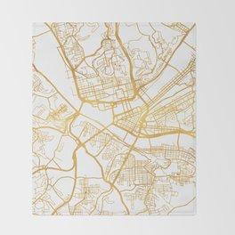 PITTSBURGH PENNSYLVANIA CITY STREET MAP ART Throw Blanket