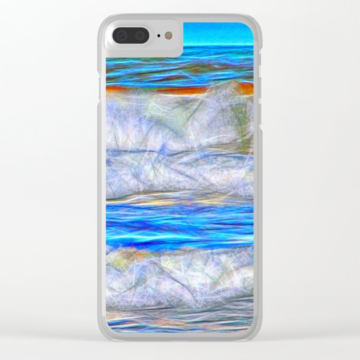 Abstract beautiful ocean waves Clear iPhone Case