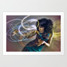 Light Wizardry Art Print