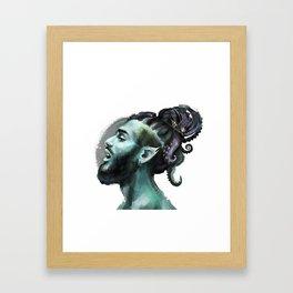 AfroAquaMan Framed Art Print