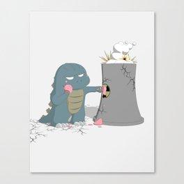 Godzelato! - Series 4: Yes gelato. No nukes. Canvas Print