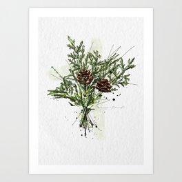 Greens of Christmas Art Print