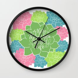Succulent Hope Wall Clock