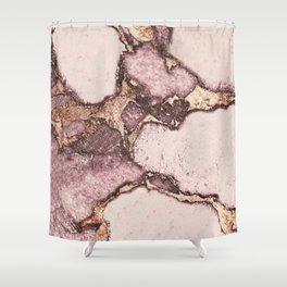 GEMSTONE AND GOLD BLUSH ROSE Shower Curtain