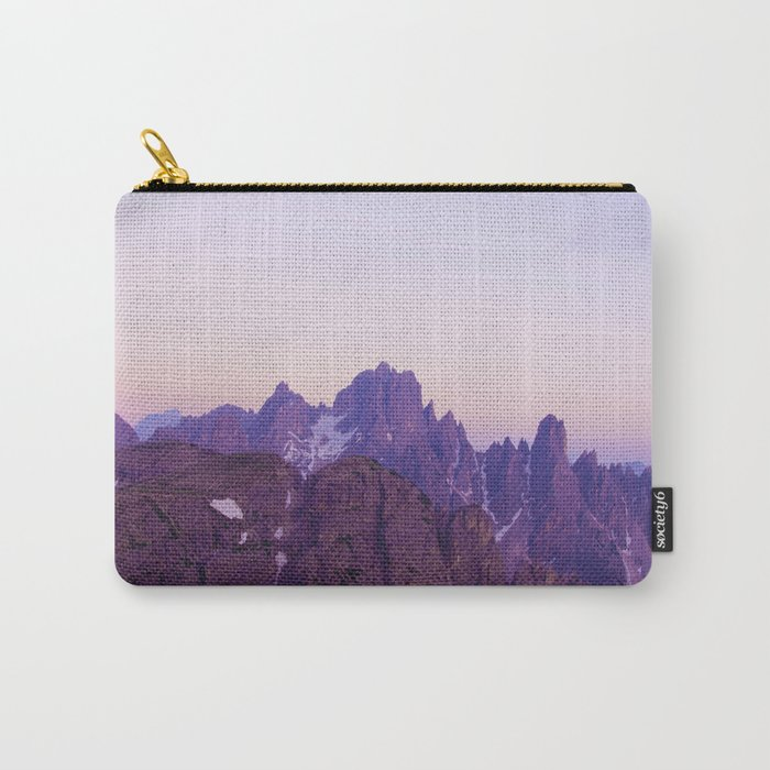 Mountains of Violet Carry-All Pouch
