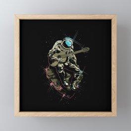 Space guitarist Framed Mini Art Print