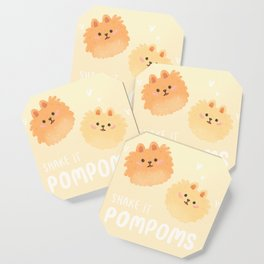 Pomeranian pom poms Coaster