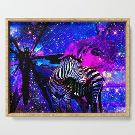 Stars  Butterfly Zebra Serving Tray